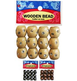 Magic Collection Wooden Beads W/Stone Large