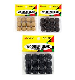 Magic Collection Wooden Beads Large Black