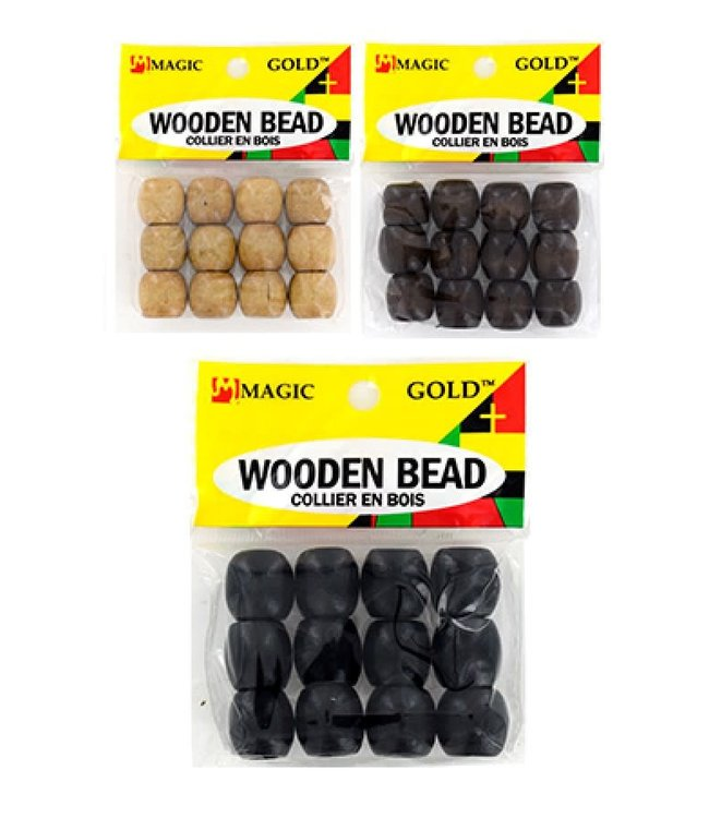 Magic Collection Wooden Beads Large - Black