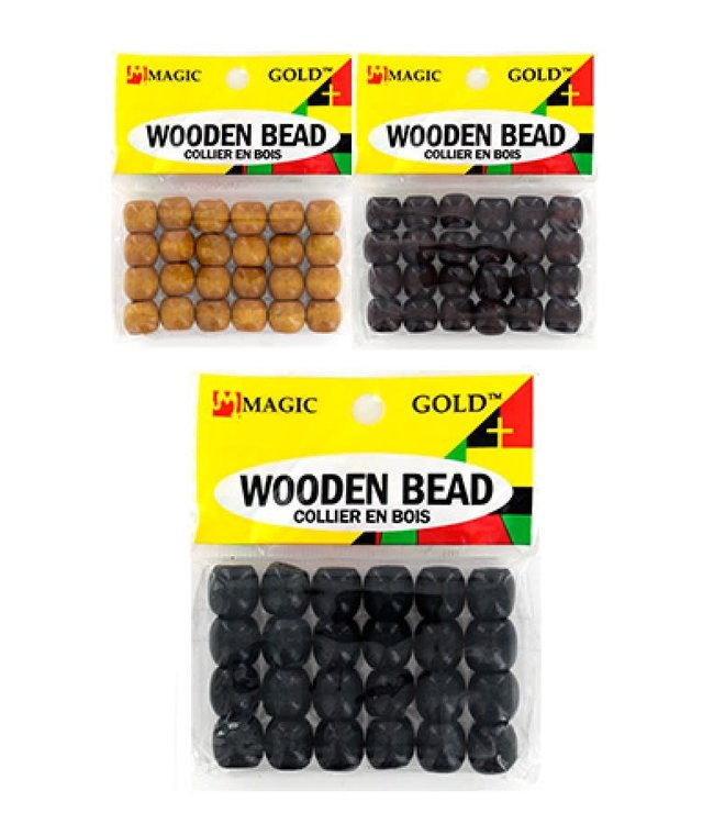 Magic Collection Wooden Beads Small Black