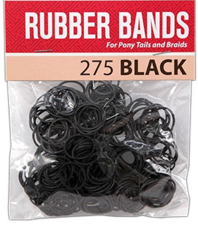 Magic Collection Rubber Band - Black, 275 pieces