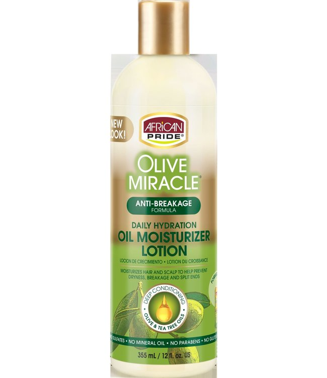 African Pride Olive Miracle Oil Moisturizer Lotion - Maximum Strength (12oz)