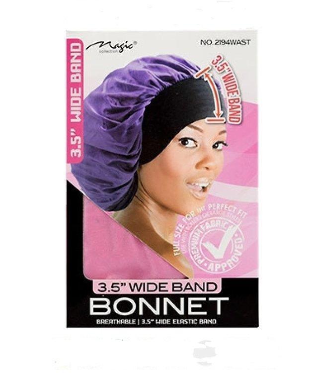 Magic Collection Wide Band Bonnet (Black)