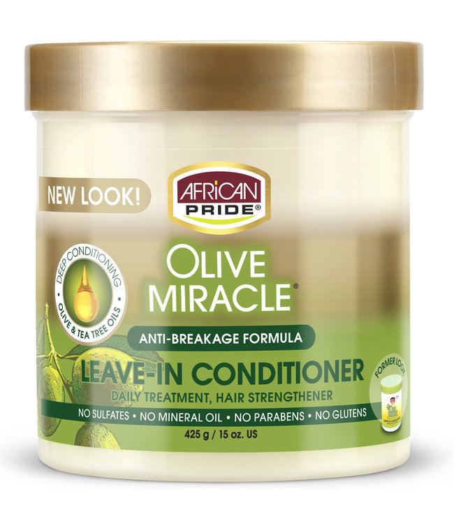 African Pride Olive Miracle Leave In Conditioner 15oz