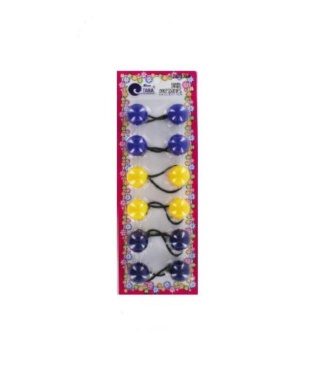 Tara Tara Round Bubbles - 24mm (Royal Blue, Yellow, Navy Blue)