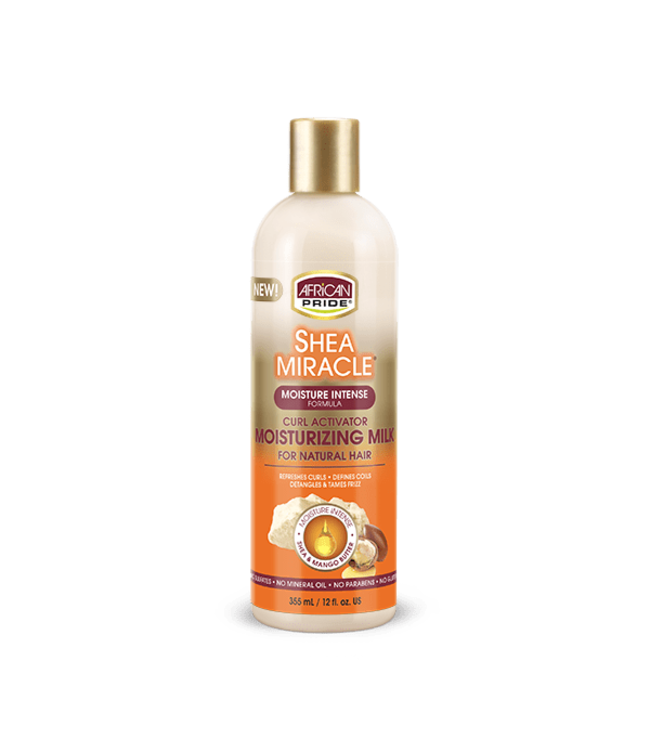 African Pride Shea Miracle Curl Activator Moisturizing Milk (12oz)