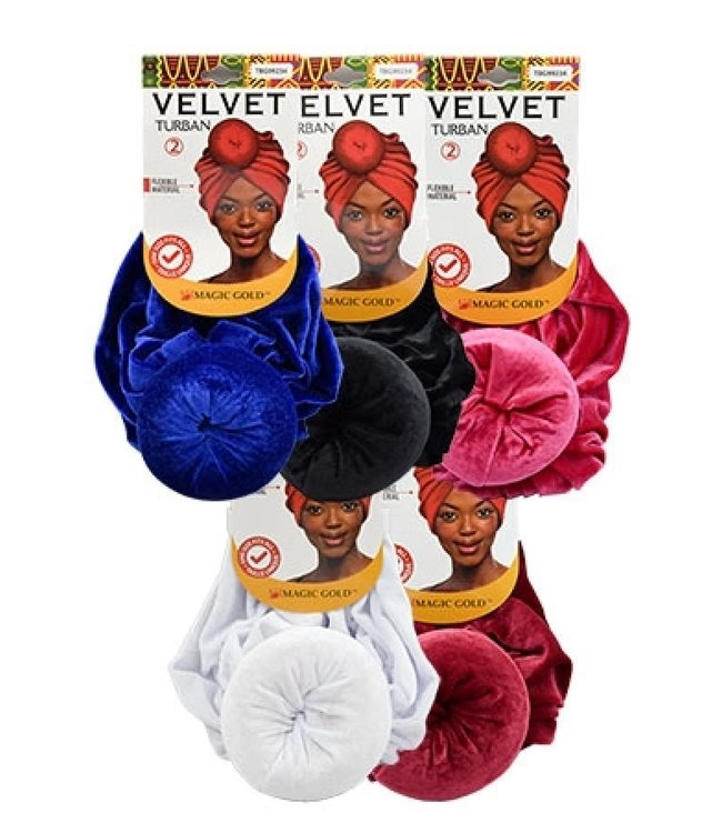Magic Collection Velvet Turban  (Assorted colors)