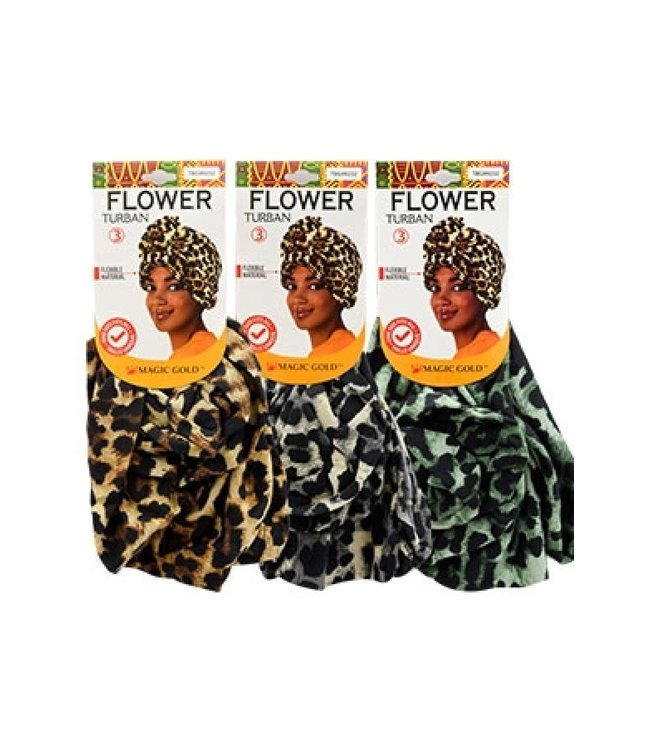 Magic Collection Flower Turban  (Assorted colors)