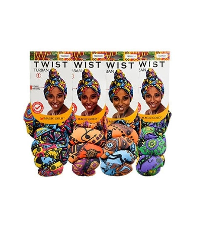 Magic Collection Twist Turban  (Assorted colors)