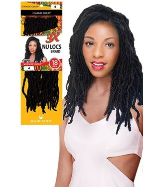 MAGIC GOLD Nu Locs Braid 3x
