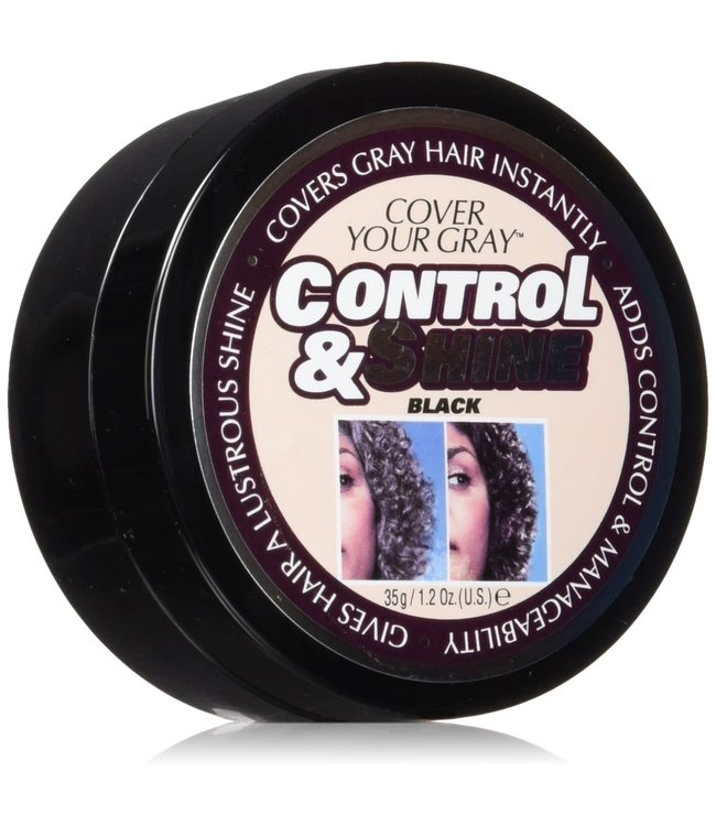 Cover Your Gray Control & Shine Black - 35 g