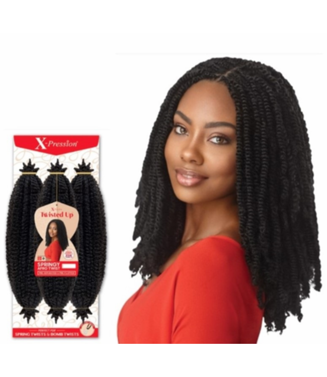 X-Pression Twisted Up Springy Afro Twist