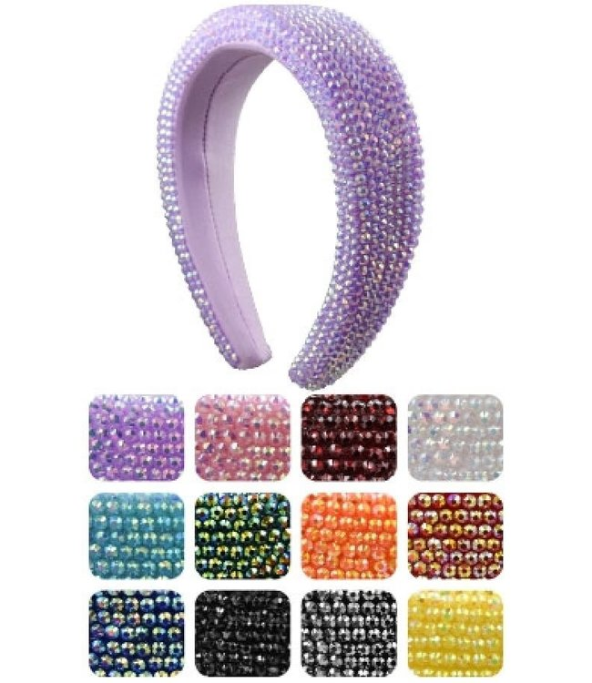 Hair Band w/Small Rhinestone - Assorted Colors