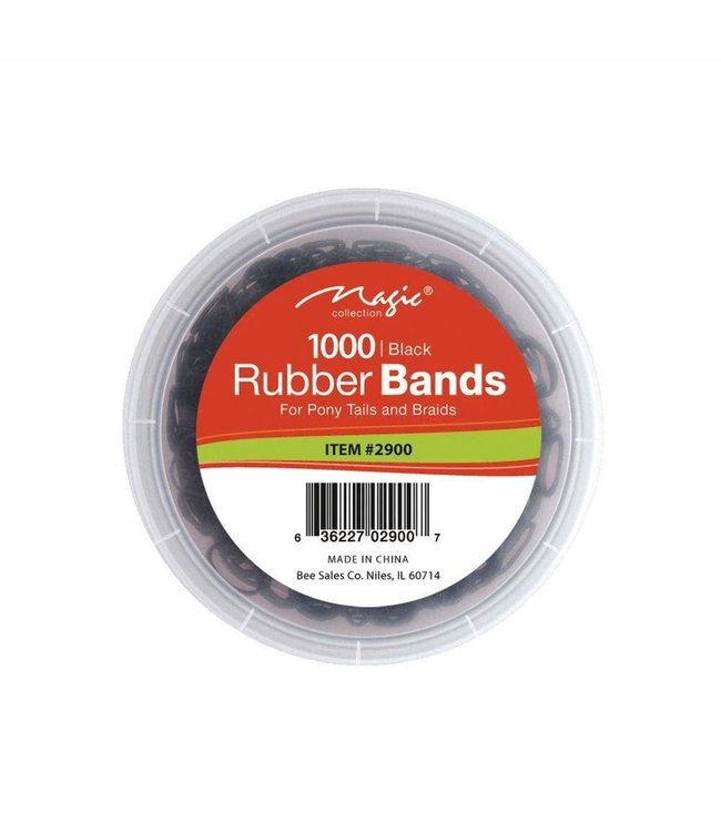 Magic Collection Rubber Band - Black (1000 pcs)