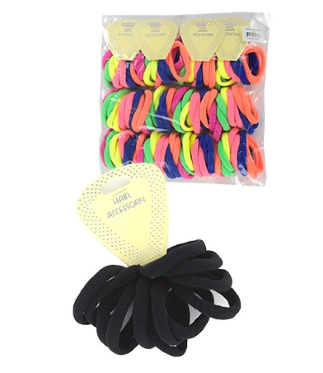 "Ponytail Holder 6"" - Black (HEP005BLA)"