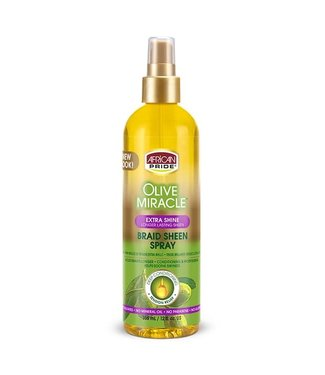 African Pride Olive Miracle Extra Shine Braid Sheen Spray (12oz)