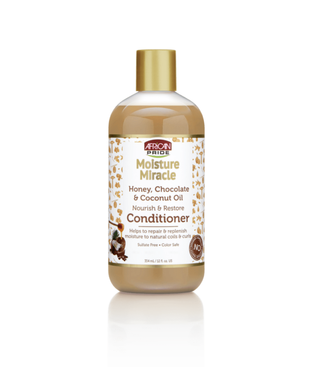 African Pride Moisture Miracle Honey, Chocolate & Coconut Oil Conditioner (12oz)