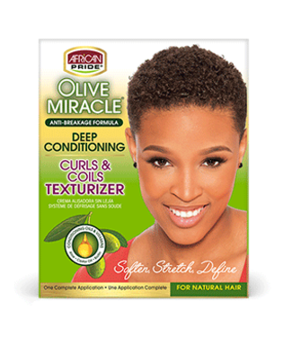 African Pride Olive Miracle Deep Conditioning Curls & Coils Texturizer