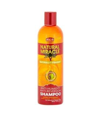 African Pride Natural Miracle Naturally Straight Anti-Humidity Anti- Reversion Shampoo 12oz