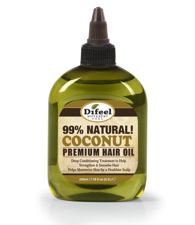 Difeel 99% Natural Coconut Premium Hair Oil 7.78oz