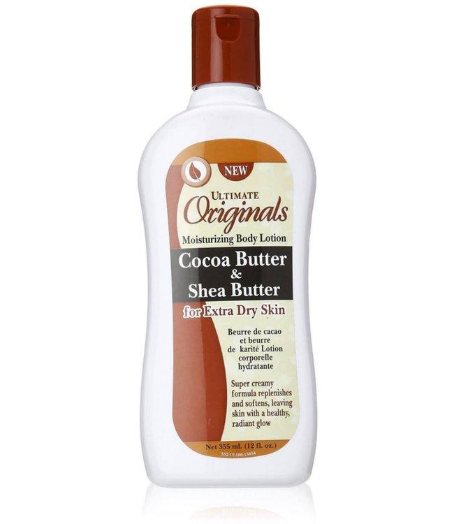 Africa's Best Ultimate Originals Moisturizing Body Lotion Cocoa Butter & Shea ButterButter  12oz