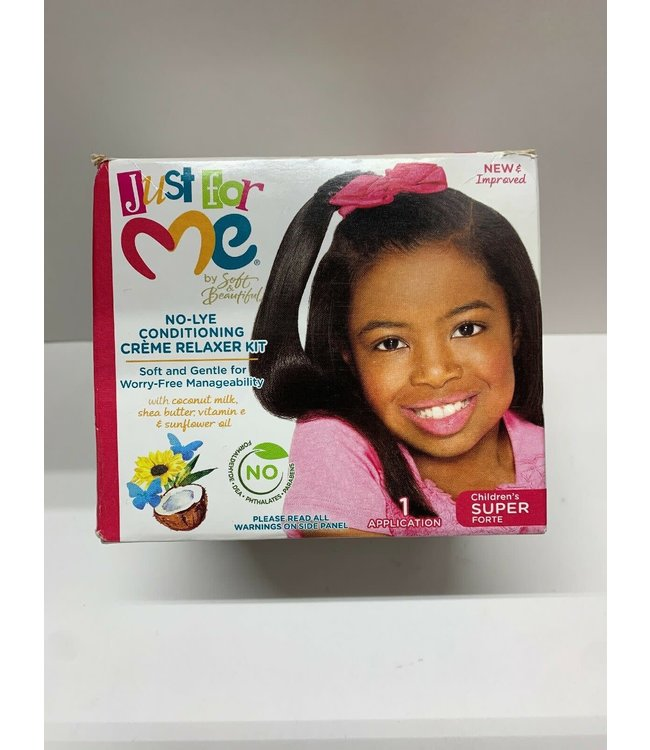Soft & Beautiful Just ForMe No-Lye Conditioning Creme Relaxer Kit Super