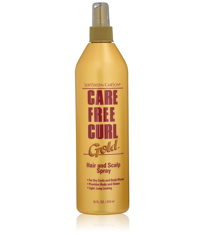 Care Free Curl Gold Hair And Scalp Spray 16oz