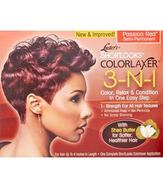 Luster's Shortlooks Coloraxer 3-N-1 Kit Passion  Red