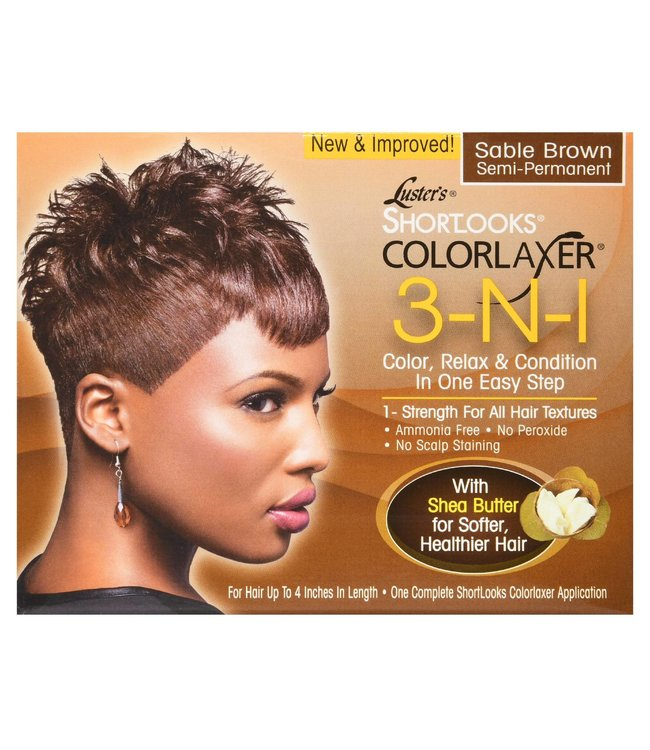 Luster's Shortlooks Colorlaxer 3-N-1 Kit Sable Brown