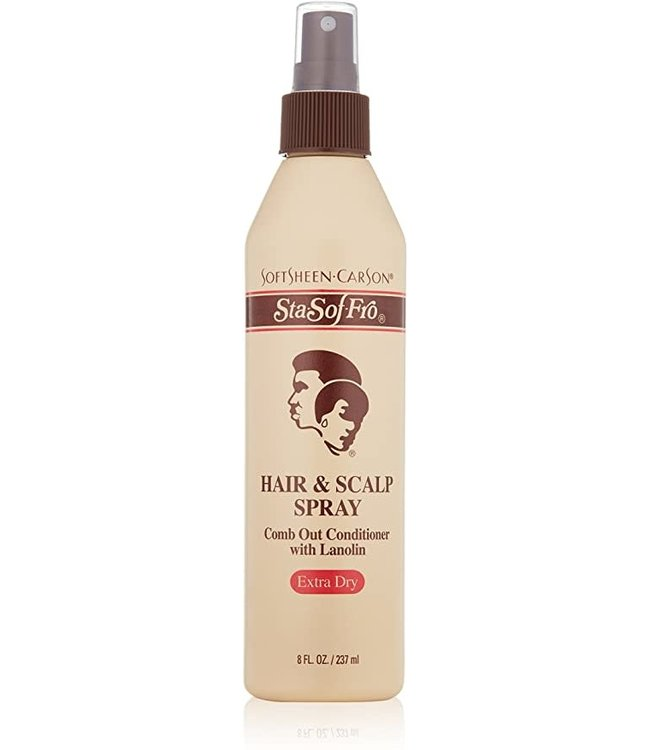 Sta Sof Fro Hair and Scalp Spray Comb Out Conditioner with Lanolin  8oz