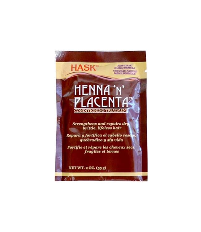 Hask Henna 'N' Placenta Conditioning Treatment Regular 2oz
