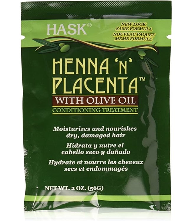 Hask Henna 'N' Placenta With Olive Oil Conditioning Treatment 2oz