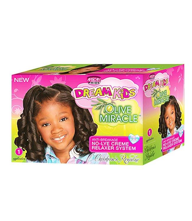 African Pride Dream Kids No-Lye Relaxer Kit Regular