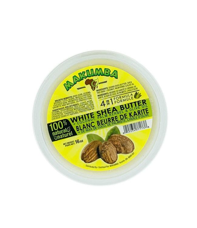 Makumba 4 IN 1 Formula White Shea Butter 16oz