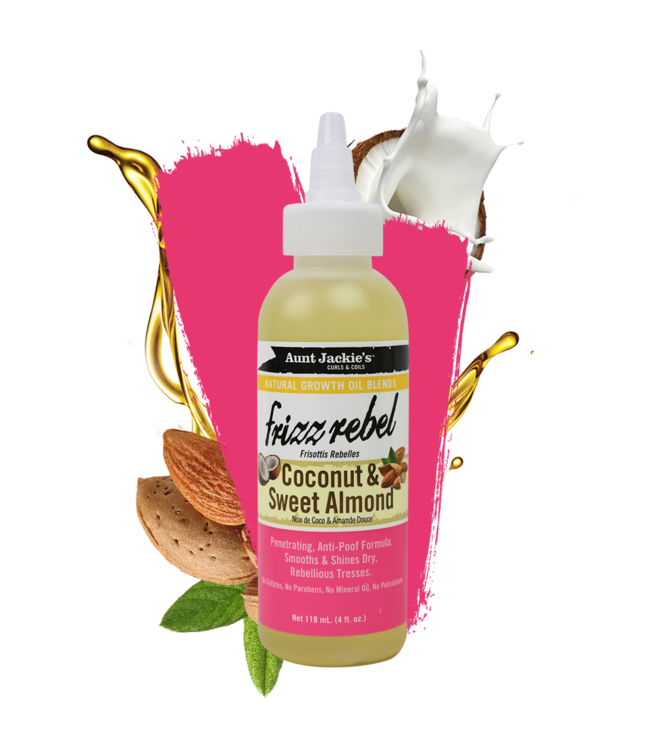 Aunt Jackie's Frizz Rebel Coconut & Sweet Almond Oil (4oz)
