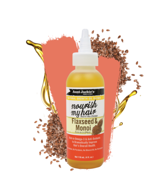 Aunt Jackie's Nourish My Hair - Flaxseed & Monoi oil (4oz)