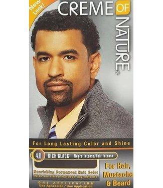 Creme Of Nature Men's Gel Hair Color - 4.0 Rich Black