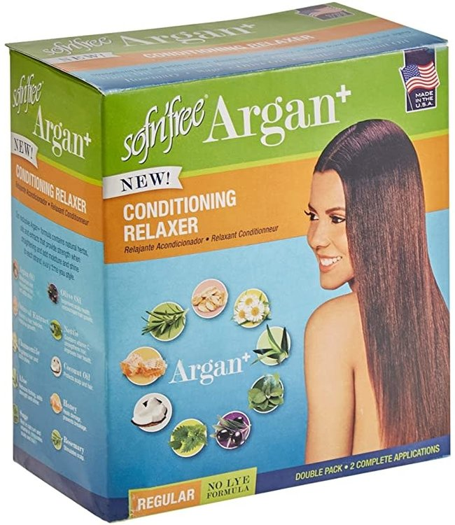 Sof N' Free Argan Conditioning Relaxer (Double Pack) - Regular