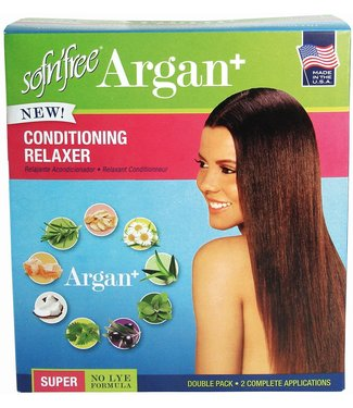 Sof N' Free Argan Conditioning Relaxer (Double Pack) - Super