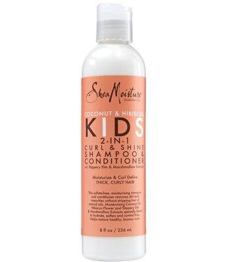 Shea Moisture Coconut & Hibiscus Kids 2-in-1 Curl & Shine Shampoo & Conditioner (8oz)