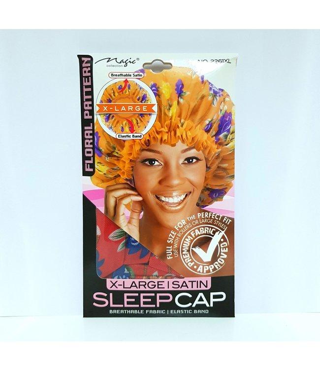 Magic Collection X-Large Satin Sleep Cap - Floral Pattern