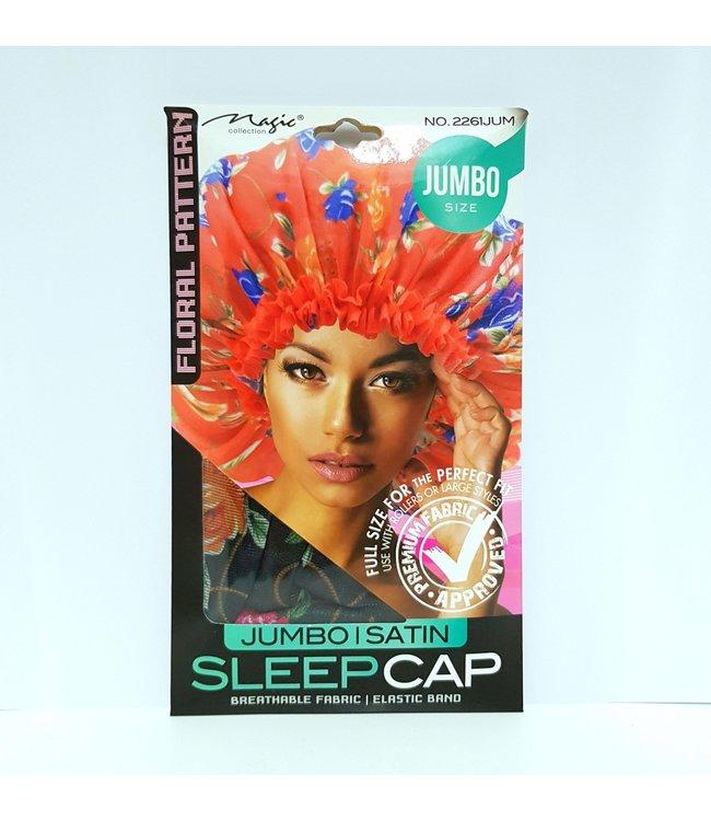 Magic Collection Jumbo Satin Sleep Cap - Floral Pattern