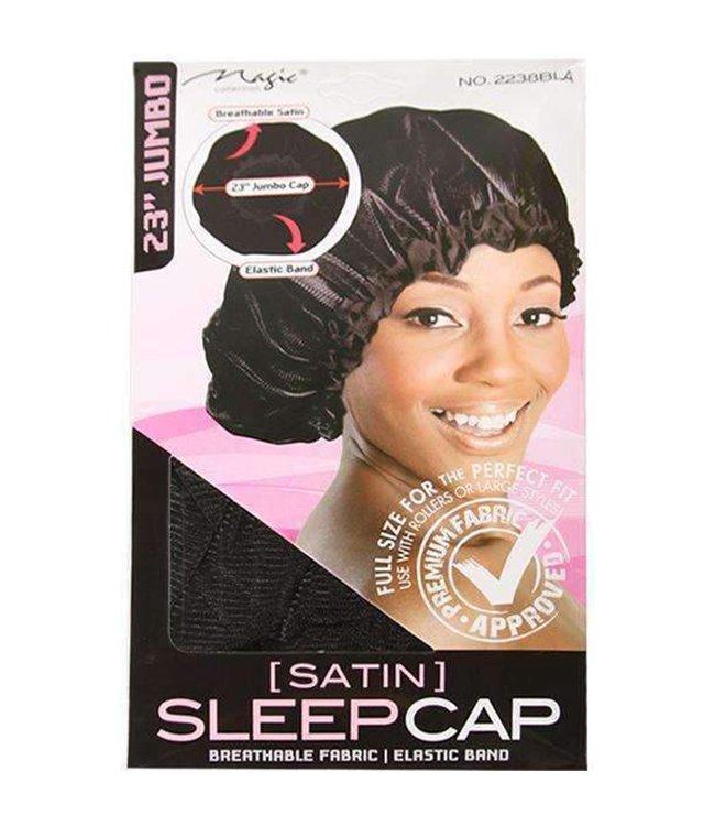 Magic Collection Jumbo Satin Sleep Cap Black 2238