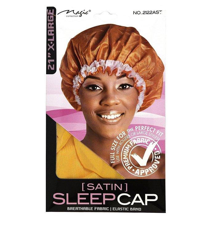 """Magic Collection XL Satin Sleep Cap 2122Assorted 21"""""""