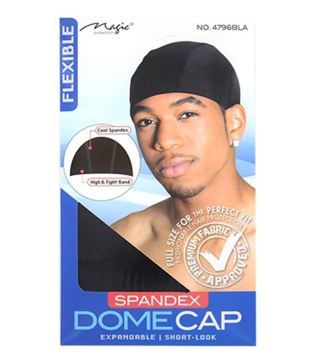 Magic Collection Spandex Dome Cap Black 4796