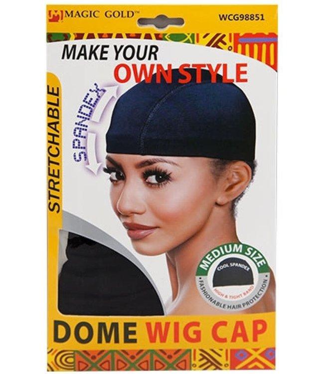 MAGIC GOLD Spandex Dome Wig Cap (Black) - #WCG98851