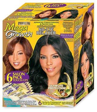 Profectiv Mega Growth No-Lye-Relaxer Touch-Ups 6 pack - Regular Strength