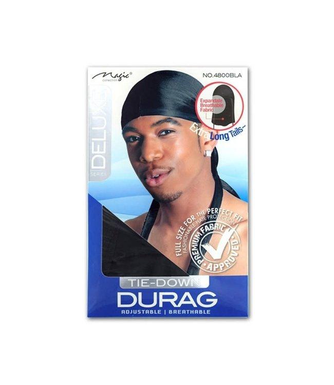 Magic Collection Expandable Tie-Down Du Rag - Black (4800)