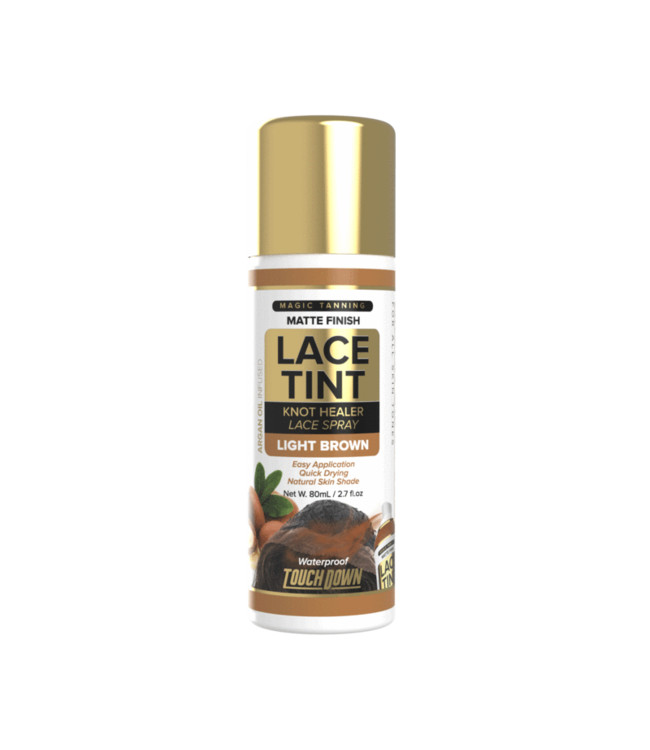 Touch Down Touch Down  Lace Tint Spray Light Brown 2.7oz