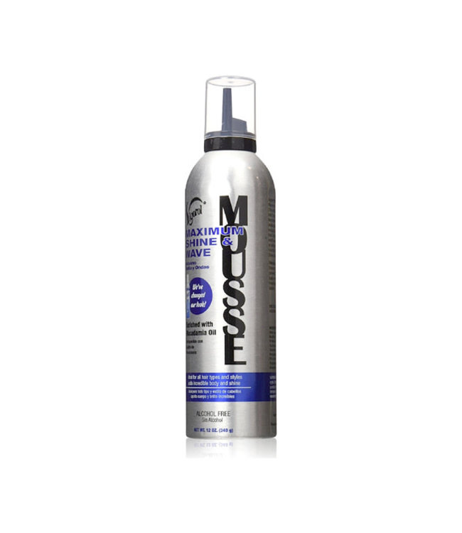 Vigorol Maximum Shine & Wave Mousse (9oz)
